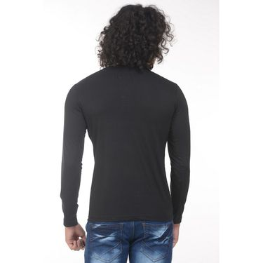 Pack of 2 Plain Regular Fit Tshirts_Htvrgbk - Black & Blue