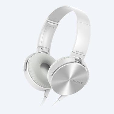 Sony MDR-XB450 On Ear Extra Bass(XB) Headphones (White)