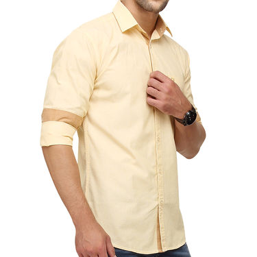 Crosscreek 100% Cotton Shirt For Men_1080301f - Yellow