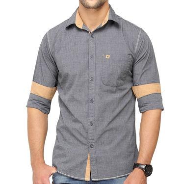 Crosscreek 100% Cotton Shirt For Men_1080306f - Grey