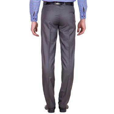 Tiger Grid Pack of 2 Cotton Formal Trouser For Men_Md031