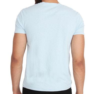 Buffalo Half Sleeves Printed Cotton Tshirt For Men_Bfl - Light Blue