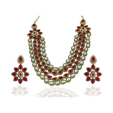 Kriaa Alloy Ethnic Necklace Set_2000301 - Multicolor