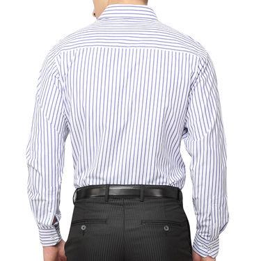 Copperline 100% Cotton Shirt For Men_CPL1173 - White & Blue
