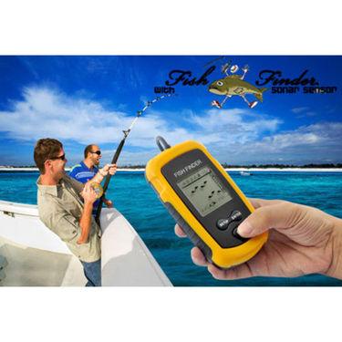 ZINGALALAA 100M Portable Sonar Sensor Fish Finder Fish Locator Capturing Transducer Alarm