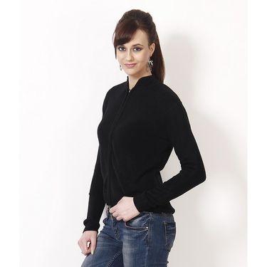 Yellow Tree Plain Acrylic Black Full Sleeves Sweater_Yt12