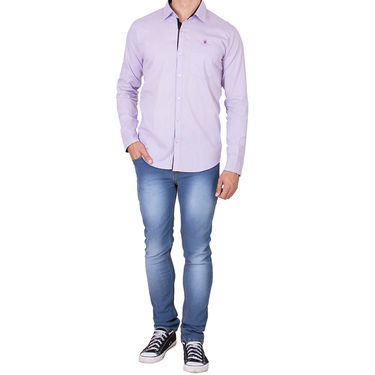 Branded Full Sleeves Cotton Shirt_R218klpnk - Pink