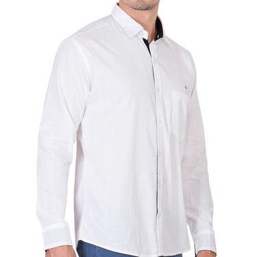 Branded Full Sleeves Cotton Shirt_R218kwht - White