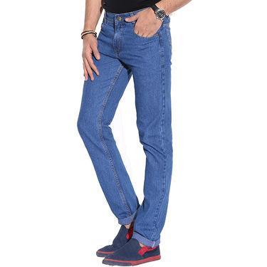 Pack of 2 Fizzaro Faded Plain Regular Fit Jeans_Fzcjbksbu - Black & Sky Blue