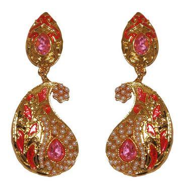 Kriaa Kundan Meenakari Earrings _1303123
