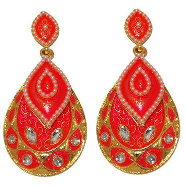 Kriaa Pearl Meenakari Earrings _1303129
