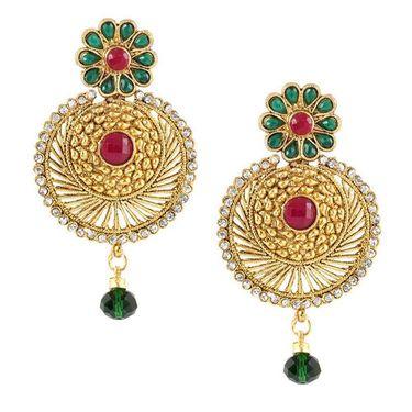 Kriaa Austrian Stone Floral Earrings _1303719