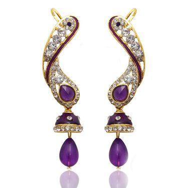 Kriaa Austrian Diamond Jhumki Style Drop Earrings _1304502