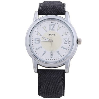 Adine Round Dial Analog Wrist Watch For Men_13gw039 - White