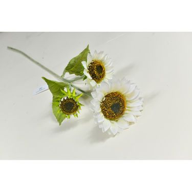 Importwala Three Headed White Sunflower Jumbo stick-1401-215V