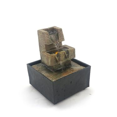 Rustic step water fountain-1412-0574