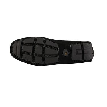 Delize Suede Leather Loafers 1751-Black