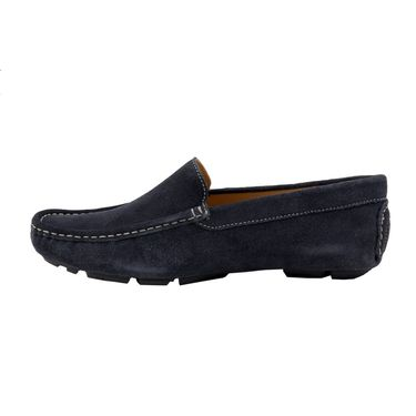 Delize Suede Leather Loafers 1751-Blue