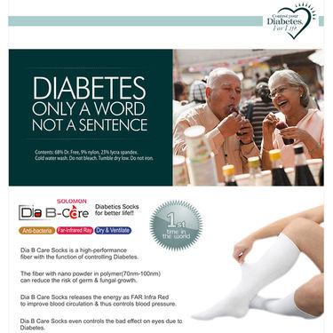 Solomon Pack of Dia B Care Diabetic Socks - Medium