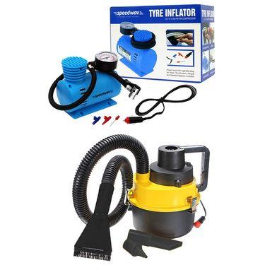 Speedwav Car Tyre Inflator +2 in 1 vacuum cleaner and blower