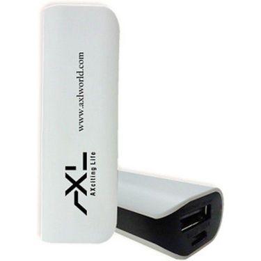 AXL 2200mAh Portable USB Power bank - White