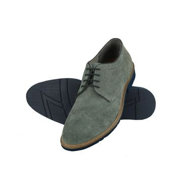 Delize Suede Leather Casual Shoes 25413A-Grey