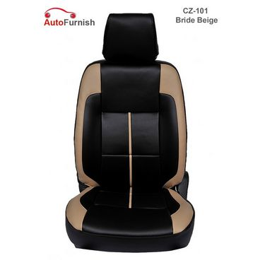 Autofurnish (CZ-101 Bride Beige) Fiat Punto Leatherite Car Seat Covers-3001049