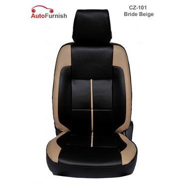 Autofurnish (CZ-101 Bride Beige) Honda Amaze 2013-14 Leatherite Car Seat Covers-3001065