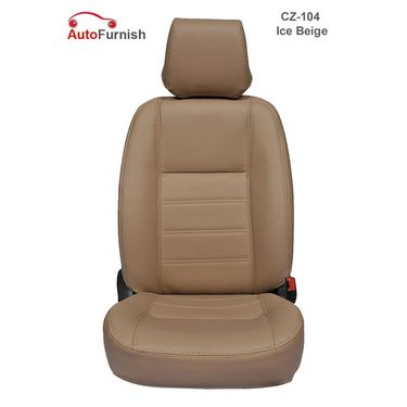 Autofurnish (CZ-104 Ice Beige) Toyota Fortuner Leatherite Car Seat Covers-3001926