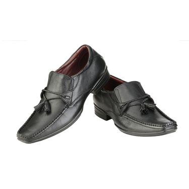 Delize Leather Formal Shoes 3052-Black