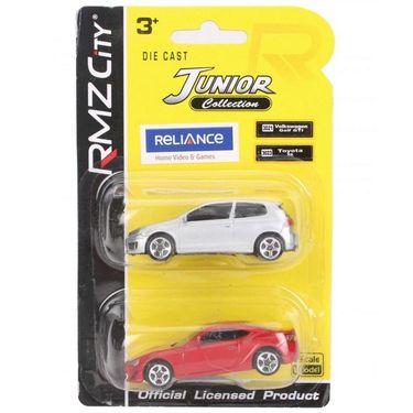 RMZ Die Cast Volkswagen Golf GTI & Toyota 86 Car Toy - Silver & Red (4895065058389 )