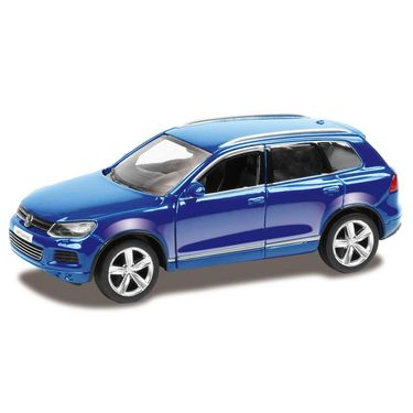 RMZ Volkswagen Touareg Blue Pullback Diecast Toy Car