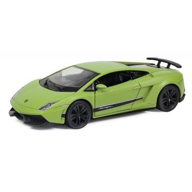 RMZ Lamborghini Gallardo LP570 Matte Green Pullback Diecast Toy Car
