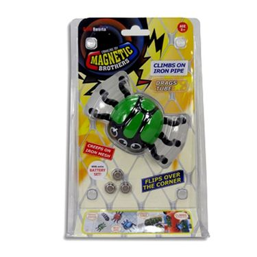 AdraxX Crawling Magnetic Insect Toy - Green