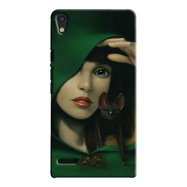 Snooky Digital Print Hard Back Case Cover For Huawei Ascend P6 Td12422