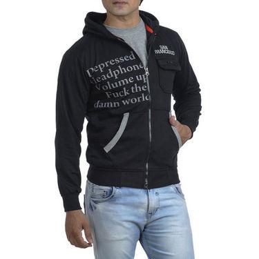 Combo of  Blended Sweatshirt + Sports Shoes - Blue & Black