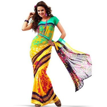 Set of 9 Rekha Georgette Sarees (9G9)