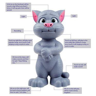 Big Size Talking Cat - Grey
