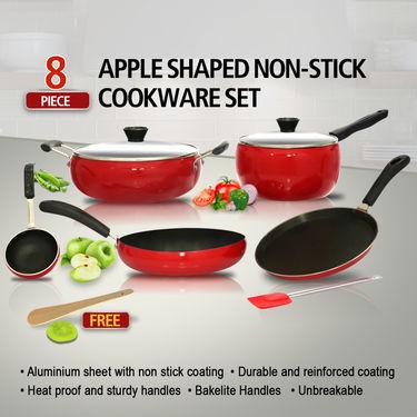 8 Pcs Apple Shaped Non-Stick Cookware