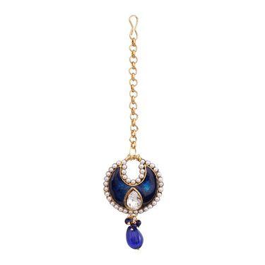 Vendee Fashion Kundan Jewellery Set - Royal Blue _ 8475