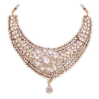 Vendee Fashion Adorable Traditional Necklace Set - Golden _ 8511
