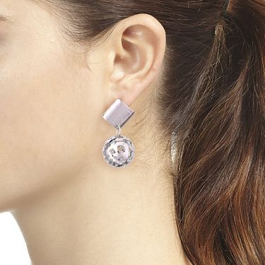 Vendee Fashion Unique Fancy Earrings - Silver _ 8599
