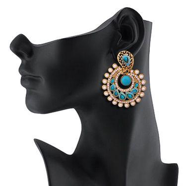 Vendee Fashion Stylish Earrings - Sky Blue