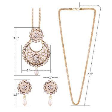 Vendee Fashion Stylish Pendant Set - White