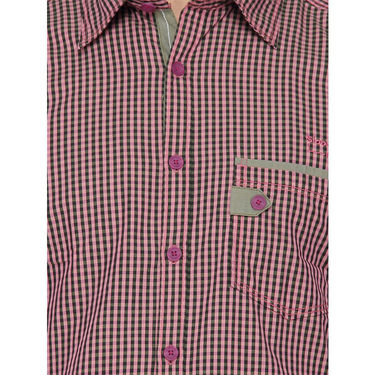 Crosscreek Full Sleeves Cotton Casual Shirt_306 - Pink