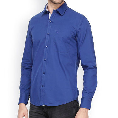Crosscreek Full Sleeves Cotton Casual Shirt_321 - Blue