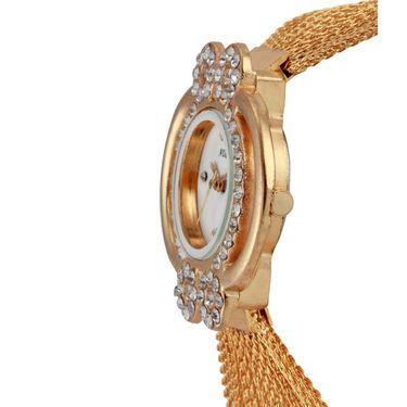 Adine Round Dial Analog Watch For Women_Ad1005 - White