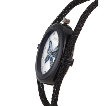 Adine Round Dial Analog Watch For Women_Ad1007 - White