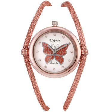 Adine Round Dial Analog Watch For Women_Ad1008 - White