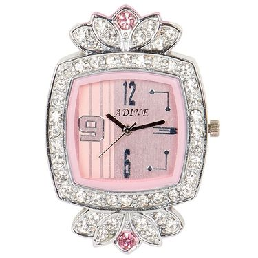 Adine Analog Square Dial Watch For Women_AD110017 - Pink